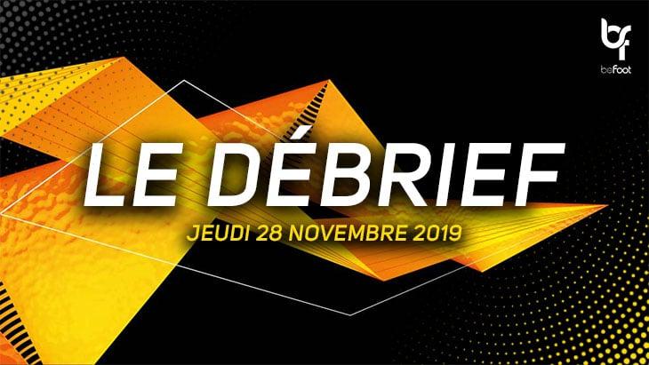Ligue Europa : Le débrief de la soirée (Jeudi 28/11)