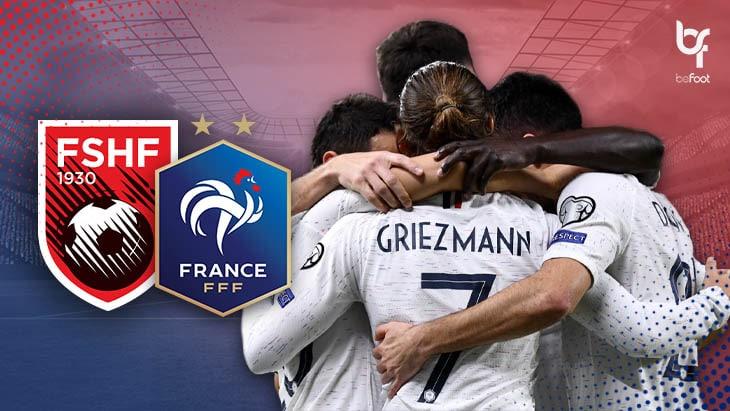 Albanie 0-2 France : Les bleus reçus 20/20