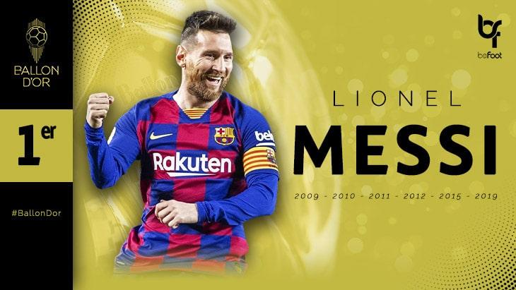Ballon d'Or : Messi, sur le toit du monde !