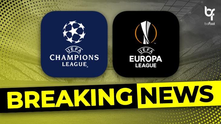 BREAKING ! L'UEFA annonce le programme de la C1 / C3