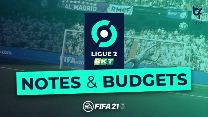 FIFA 21 – Mode Carrière : Les notes et budgets des clubs de Ligue 2