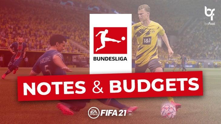 FIFA 21 – Mode Carrière : Les notes et budgets des clubs de Bundesliga