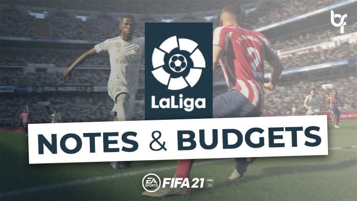FIFA 21 – Mode Carrière : Les notes et budgets des clubs de LaLiga