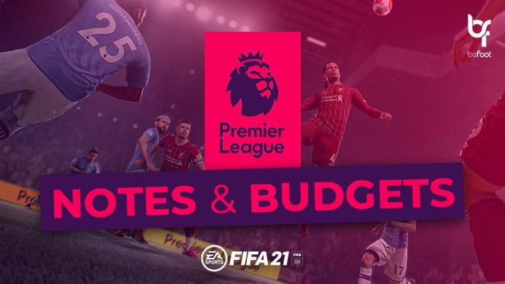 FIFA 21 – Mode Carrière : Les notes et budgets des clubs de Premier League