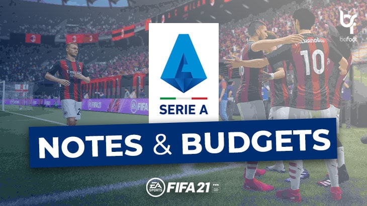 FIFA 21 – Mode Carrière : Les notes et budgets des clubs de Série A