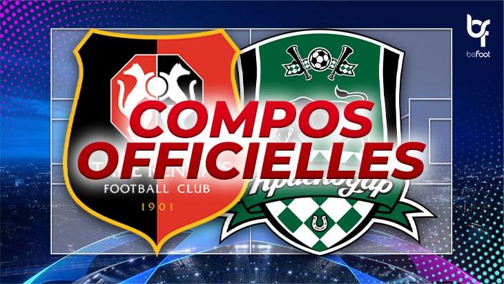 🚨 Rennes – Krasnodar : Les compos officielles !