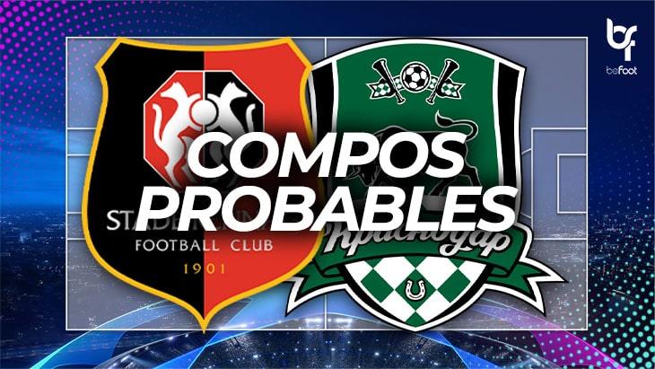 Rennes – Krasnodar : Les compos probables