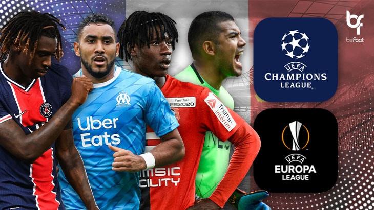 Bilan des clubs français en Ligue des Champions et en Ligue Europa