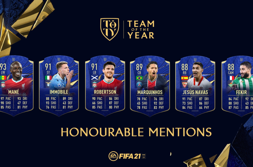 "FUT 21 : Les TOTY ""Mentions Honorables"""