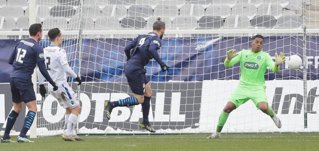 Benedetto, buteur face à Auxerre en Coupe de France