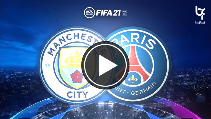FIFA 21 : on a simulé Man City 🏴 – 🇫🇷 PSG !