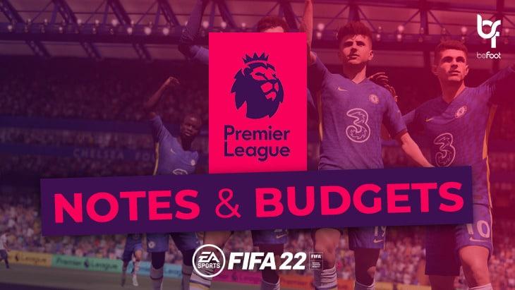 FIFA 22 – Mode Carrière : Les notes et budgets des clubs de Premier League